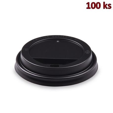 Víčko vypouklé černé pro kelímky Ø 90 mm [100 ks]
