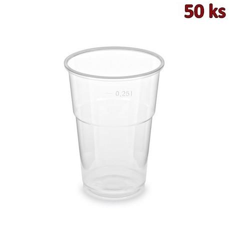 Kelímek průhledný 0,25 l PP extra pevný (Ø 78 mm) [50 ks]