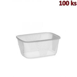 Miska hranatá průhledná 250 ml PP [100 ks]