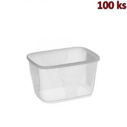 Miska hranatá průhledná 300 ml PP [100 ks]