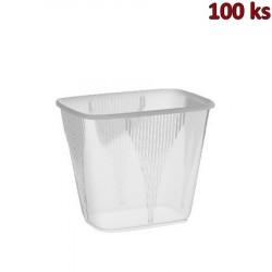 Miska hranatá průhledná 500 ml PP [100 ks]