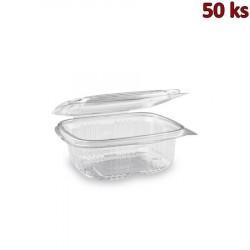 Plastová krabička s víčkem hranatá 375 ml PET [50 ks]