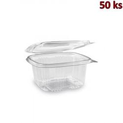 Miska hranatá průhledná s víčkem 500 ml PET [50 ks]