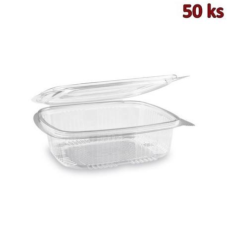 Miska hranatá průhledná s víčkem 750 ml PET [50 ks]
