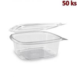 Plastová krabička s víčkem hranatá 1000 ml PET [50 ks]