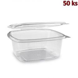 Plastová krabička s víčkem hranatá 1500 ml PET [50 ks]