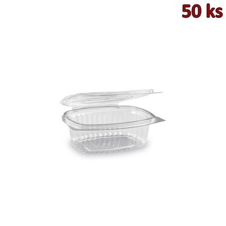 Miska oválná průhledná s víčkem 250 ml PET [50 ks]