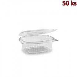Miska oválná průhledná s víčkem 375 ml PET [50 ks]