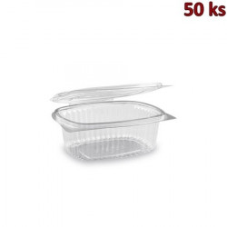 Miska oválná průhledná s víčkem 500 ml PET [50 ks]
