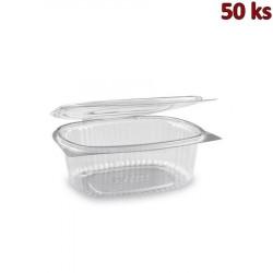 Plastová miska s víčkem oválná 750 ml PET [50 ks]