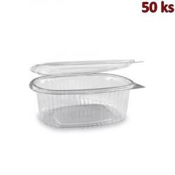 Plastová krabička s víčkem oválná 1000 ml PET [50 ks]