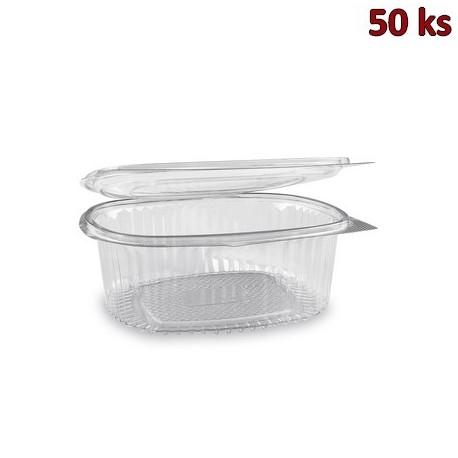 Plastová miska s víčkem oválná 1000 ml PET [50 ks]
