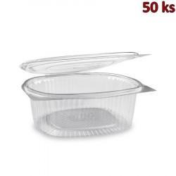 Miska oválná průhledná s víčkem 1500 ml PET [50 ks]