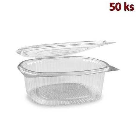 Plastová miska s víčkem oválná 1500 ml PET [50 ks]