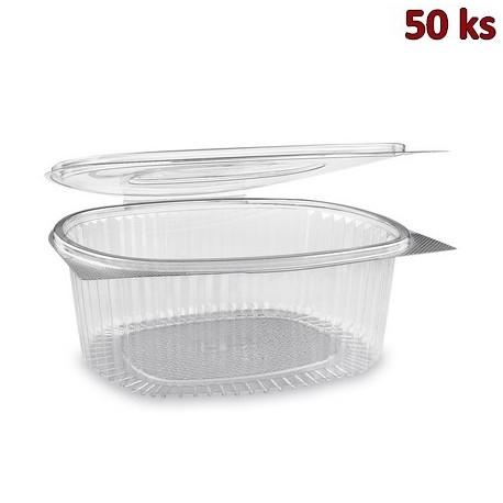 Plastová krabička s víčkem oválná 2000 ml PET [50 ks]