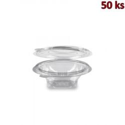 Miska kulatá průhledná s víčkem 150 ml PET [50 ks]