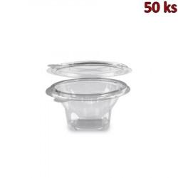 Miska kulatá průhledná s víčkem 250 ml PET [50 ks]