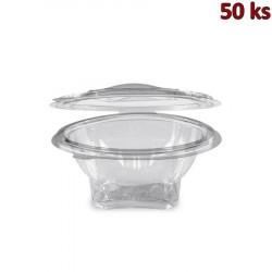 Miska kulatá průhledná s víčkem 500 ml PET [50 ks]