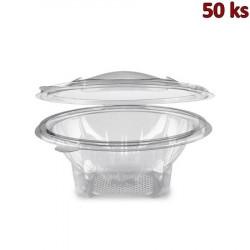 Miska kulatá průhledná s víčkem 600 ml PET [50 ks]