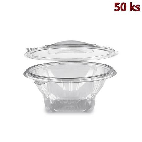 Miska kulatá průhledná s víčkem 750 ml PET [50 ks]