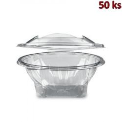 Miska kulatá průhledná s víčkem 1000 ml PET [50 ks]