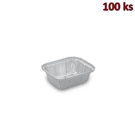 Hliníkové misky hranaté 250 ml 12,9 x 10,3 x 3,4 cm [100 ks]