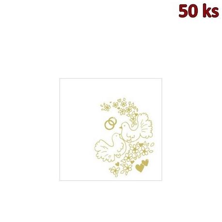 Ubrousky AIRLAID 40 x 40 cm SVATBA [50 ks]