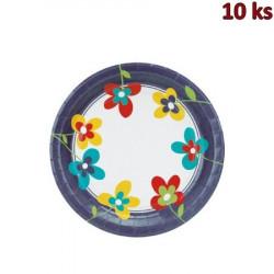 Papírové talíře Ø 23 cm SUMMER FLOWERS [10 ks]