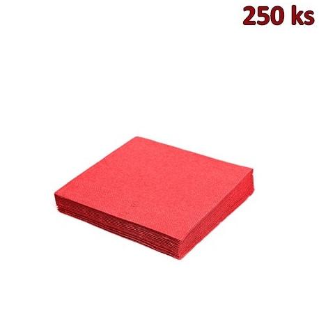 Papírové ubrousky červené 2-vrstvé, 24 x 24 cm [250 ks]
