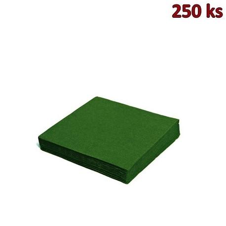 Papírové ubrousky tmavě zelené 2-vrstvé, 24 x 24 cm [250 ks]