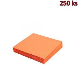 Papírové ubrousky oranžové 2-vrstvé, 24 x 24 cm [250 ks]