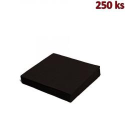 Papírové ubrousky černé 2-vrstvé, 24 x 24 cm [250 ks]