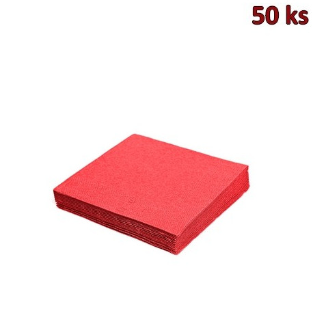 Papírové ubrousky červené 2-vrstvé, 33 x 33 cm [50 ks]
