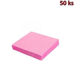 Papírové ubrousky růžové 2-vrstvé, 33 x 33 cm [50 ks]