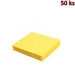 Papírové ubrousky žluté 2-vrstvé, 33 x 33 cm [50 ks]