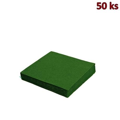 Papírové ubrousky tmavě zelené 2-vrstvé, 33 x 33 cm [50 ks]
