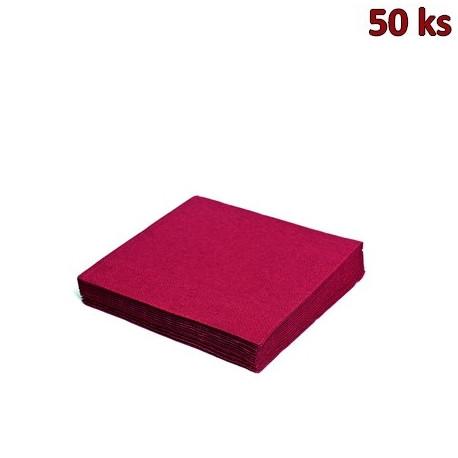 Papírové ubrousky bordové 2-vrstvé, 33 x 33 cm [50 ks]