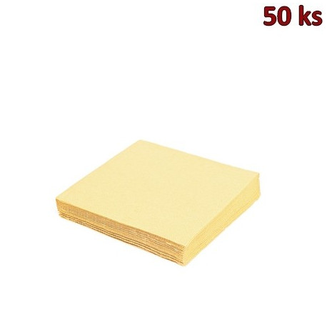 Papírové ubrousky béžové 2-vrstvé, 33 x 33 cm [50 ks]
