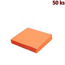 Papírové ubrousky oranžové 2-vrstvé, 33 x 33 cm [50 ks]
