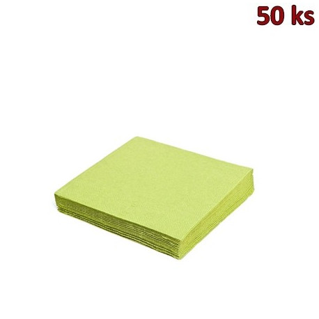 Papírové ubrousky žlutozelené 2-vrstvé, 33 x 33 cm [50 ks]