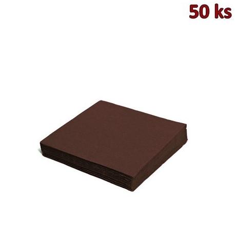Papírové ubrousky hnědé 2-vrstvé, 33 x 33 cm [50 ks]