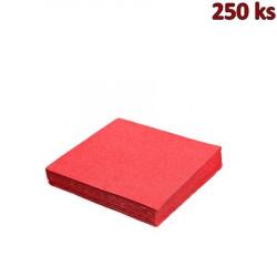 Papírové ubrousky červené 2-vrstvé, 33 x 33 cm [250 ks]