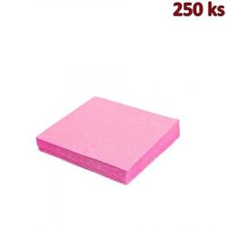 Papírové ubrousky růžové 2-vrstvé, 33 x 33 cm [250 ks]