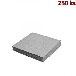 Papírové ubrousky šedé 2-vrstvé, 33 x 33 cm [250 ks]