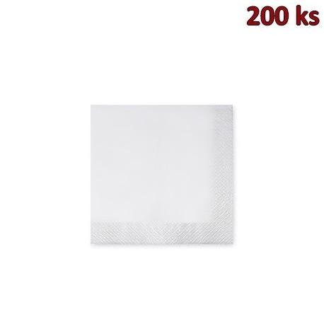 Papírové ubrousky 3-vrstvé, 24 x 24 cm bílé [200 ks]