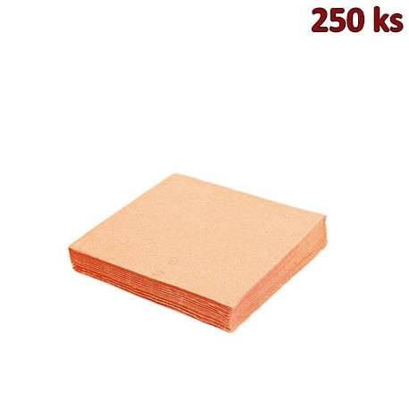 Papírové ubrousky apricot 3-vrstvé, 33 x 33 cm [250 ks]