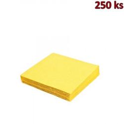 Papírové ubrousky žluté 3-vrstvé, 33 x 33 cm [250 ks]