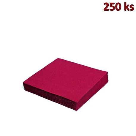 Papírové ubrousky bordové 3-vrstvé, 33 x 33 cm [250 ks]