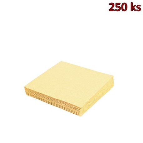 Papírové ubrousky béžové 3-vrstvé, 33 x 33 cm [250 ks]