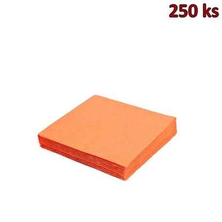 Papírové ubrousky oranžové 3-vrstvé, 33 x 33 cm [250 ks]